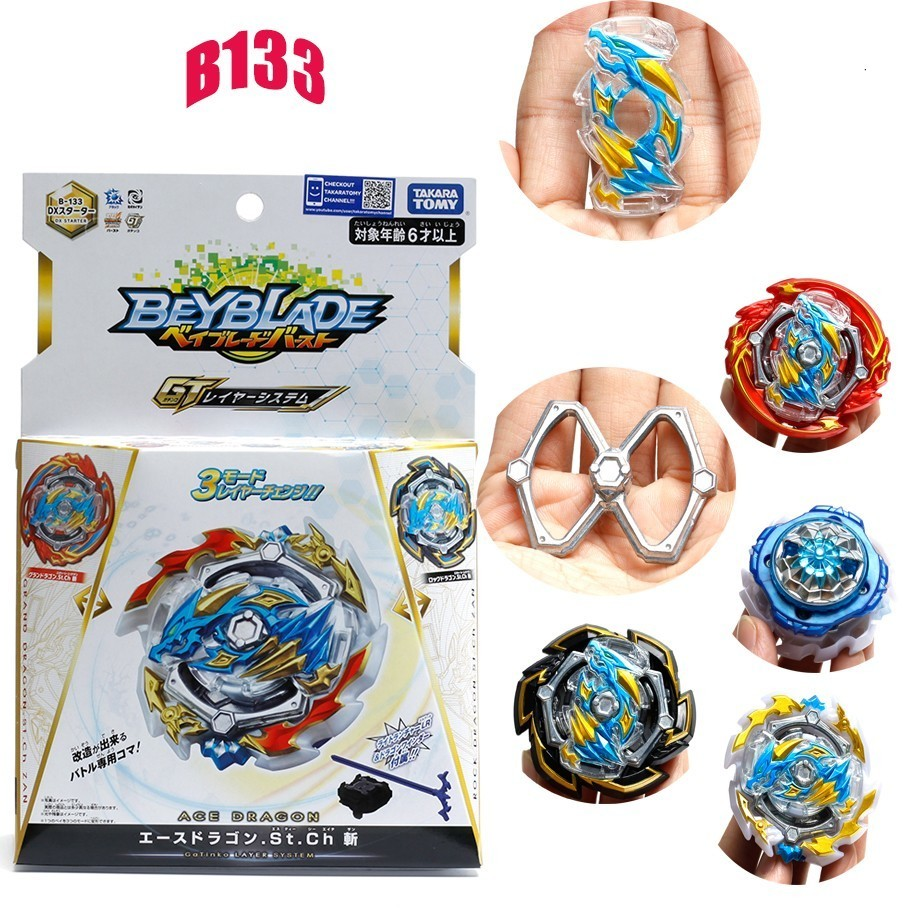 Takaratomy Beyblade Burst B-133 Dx Starter Ace+rock+gran Dragon. Sting. Charge Bayblade Bay Blade Popular Collection Toy For Boy