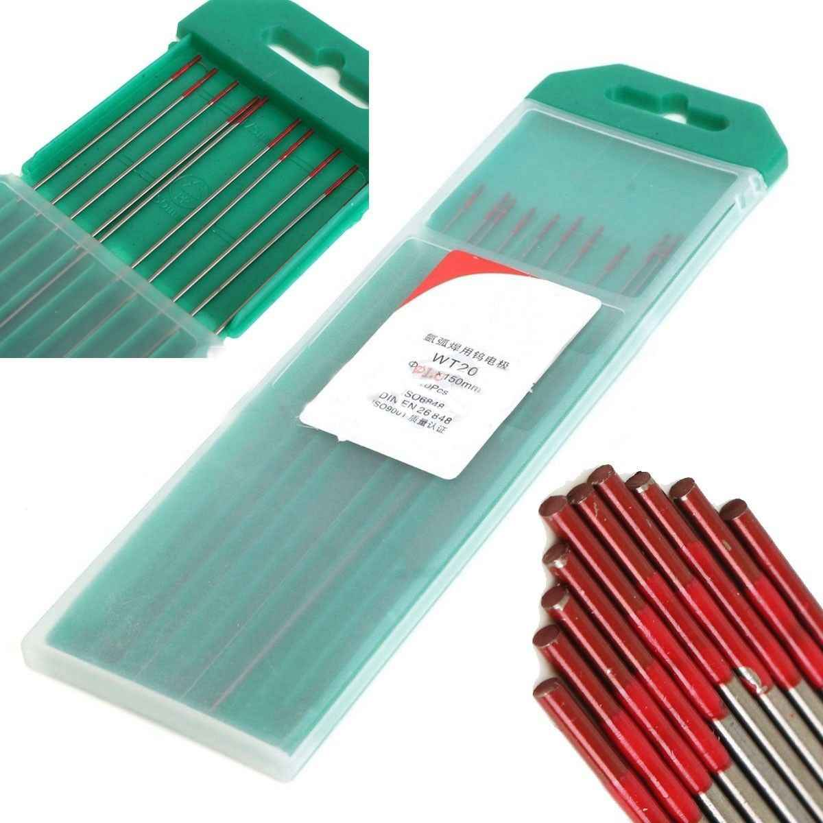 Red Tip 10 Pack 1.0mm Thoriated 2/% TIG Welding Tungsten/'s Electrode 175mm