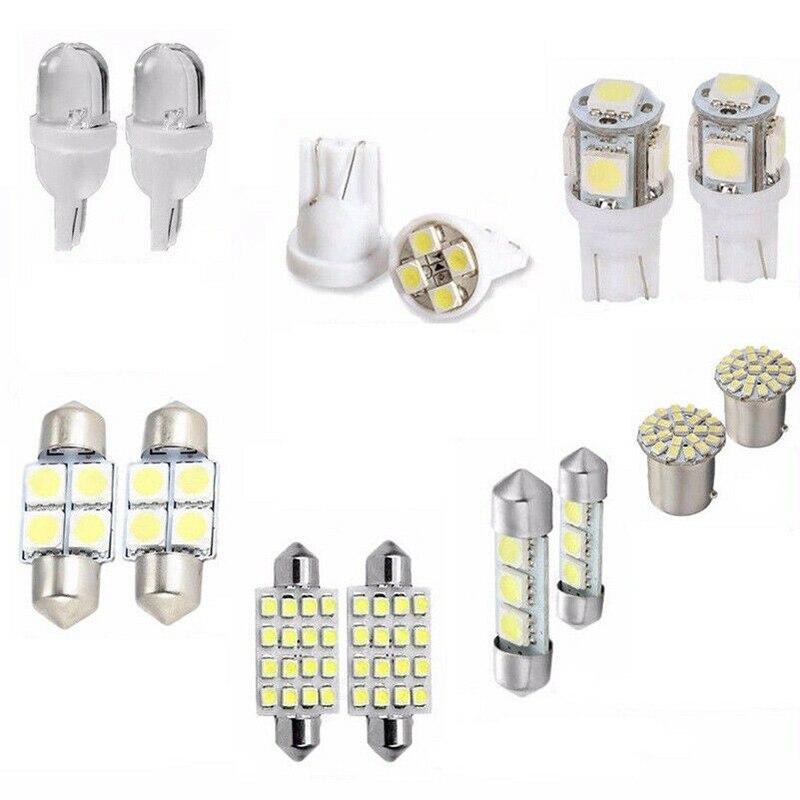 14x T10 31&41mm LED Bulbs Car Inside Light Dome Trunk Mirror License Plate Lamp