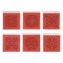 Ретро Классический Кружевной Ретро винтажный квадратный деревянный резиновый альбом для штампов DIY кружевное украшение цветочный штамп