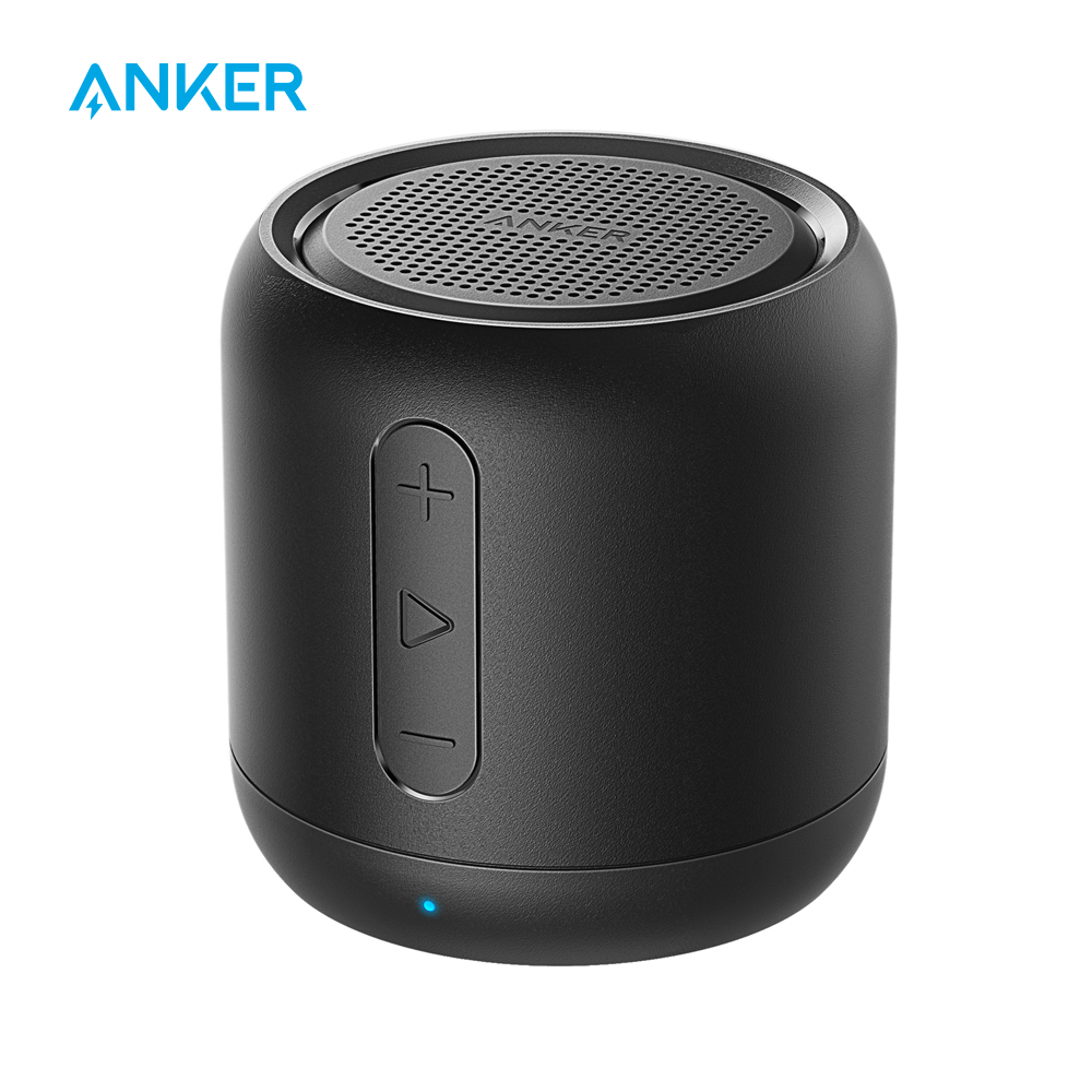 Anker SoundCore mini, Super-Portable Bluetooth Speaker with 15-Hour Playtime, 66-Foot Bluetooth Range, Enhanced Bass MicrophoneAnker SoundCore mini, Super-Portable Bluetooth Speaker with 15-Hour Playtime, 66-Foot Bluetooth Range, Enhanced Bass Microphone