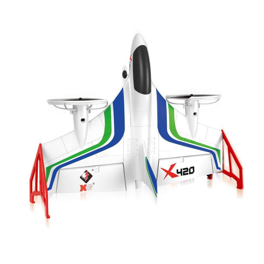 Image 2 - XK X420 2.4G 6CH 420mm 3D6G VTOL Vertical Take off And Landing EPP 3D Aerobatic FPV RC Airplane RTF Remove Control Toys-in RC Airplanes from Toys & Hobbies