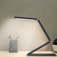 4 layer Folding 1000mA Rechargeable Book Reading Light Aluminum Alloy LED Desk Lamp 3W 2 Level Dimmable Night Light Table Lamp