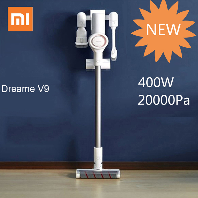 xiaomi dreame v9 cordless vacuum cleaners handheld vacuum cleaners 400w 20000pa acarid killing. Black Bedroom Furniture Sets. Home Design Ideas