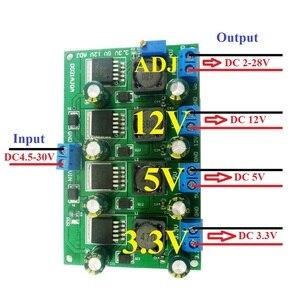 Image 1 - 3A 4 채널 다중 스위칭 전원 공급 장치 모듈 3.3V 5V 12V ADJ 가변 출력 DC DC 스텝 다운 벅 컨버터 보드
