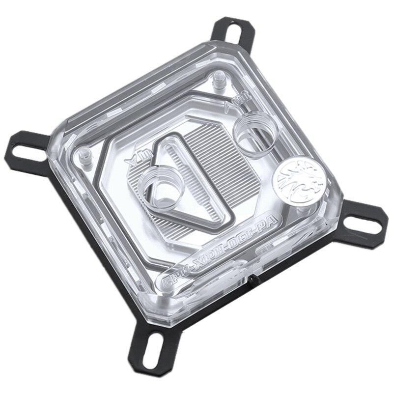 Cpu-xpr-b-pa, pour blocs d'eau Cpu Intel Lga115X/2011, système d'éclairage Rbw, bloc de refroidissement à eau Microwaterway
