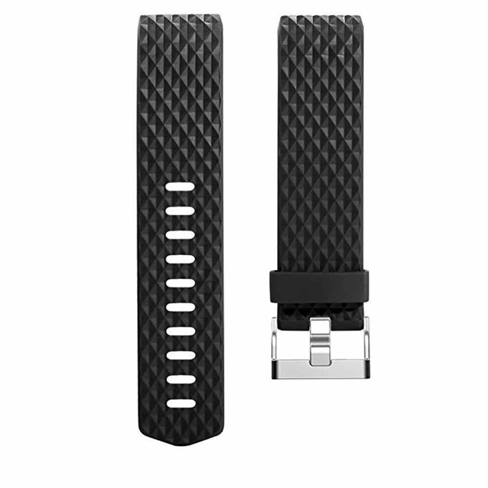 DUSZAKE 3D السيليكون شريط للرسغ ل Fitbit تهمة 2 الفرقة سوار إكسسوارات ل Fitbit تهمة 2 حزام الذكية معصمه حزام