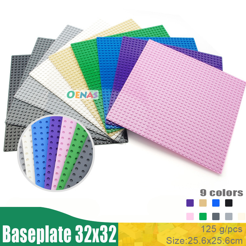 32*32 Dots Base Plate for Small Bricks <font><b>Baseplate</b></font> Board Compatible L*goed figures DIY Plastic Building Blocks Toys For Children image