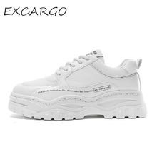 EXCARGO Shoes Mens White Sneakers Platform 2019 New hot autumn For Men Chunky Black Breathable Comfortable