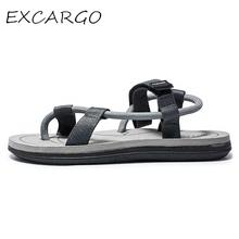 EXCARGO buty letnie męskie sandały Badange buty gumowe stałe sandały dla mężczyzn nowy 2019 moda lato Flip Flop sandały mieszkania tanie tanio CN (pochodzenie) Brak Tkane Podstawowe NONE RUBBER Gumką Niska (1 cm-3 cm) Pasuje prawda na wymiar weź swój normalny rozmiar