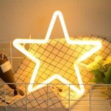 LED неоновый свет любовь молния облако луна звезда неоновый свет фотография опора магазин