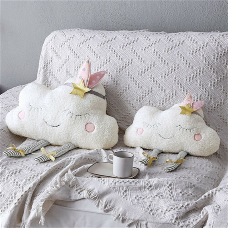 PUDCOCO Creative Cloud Shaped Plush Stuffed Pillow Bed Cushion Toys Home Sofa Car Decor
