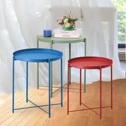 Nordic кованого железа поднос небольшой стол простой диван край кованого железа поднос журнальный столик кофе складной маленький круглый