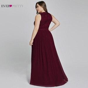 Image 2 - אמא של חתן שמלות בתוספת גודל אי פעם די אלגנטי קו O צוואר חרוזים תחרה ארוכה פורמליות שמלות המפלגה עבור חתונה 2020
