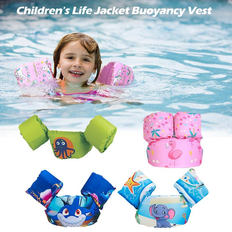 Sports Clothing Childrens Life Jacket Buoyancy Vest Cartoon Pattern Swim Aids Floating Suit For Toddlers Arm Foam Lifebuoy Sports & Entertainment