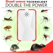 Большой диапазон Ультразвуковой Отпугиватель вредителей заглушка в вредителей отклонение мышей ошибка репелленты от комаров муха тараканов крыс контроль