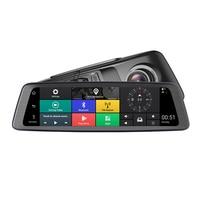 10 Автомобильный dvr камера видео рекордер ADAS 4 канала зеркало 4G медиа зеркало заднего вида 4 ядра Android 5,1 Dash Cam FHD 1080P