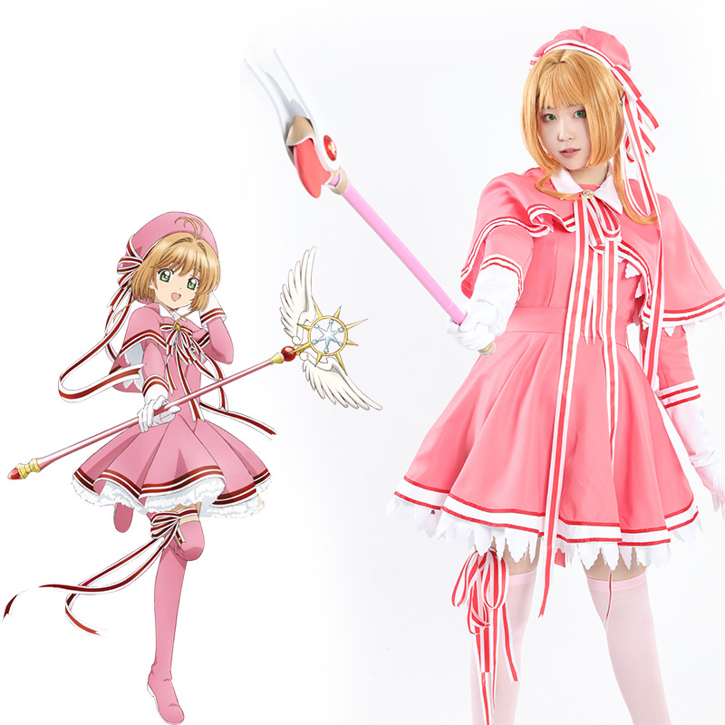Milky Way Anime Card Captor Sakura Pink Cute Cardcaptors Cosplay Costume Party Cosplay Suit Helloween Uniform