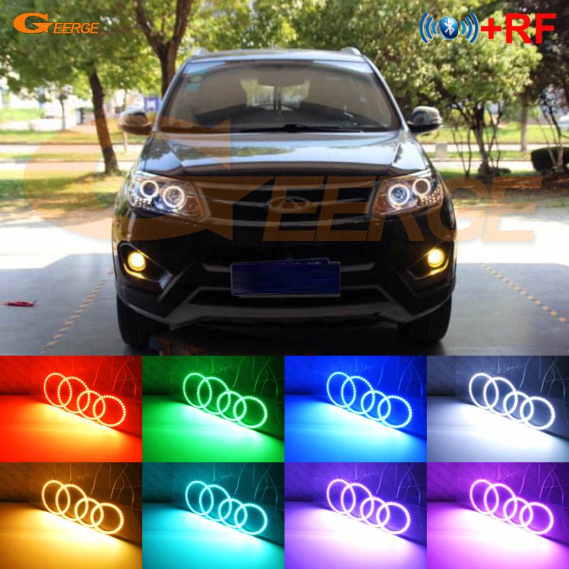 For Chery Tiggo 5 2014 2015 Excellent RF Bluetooth Controller Multi-Color Ultra bright RGB LED Angel Eyes Halo Ring kitFor Chery Tiggo 5 2014 2015 Excellent RF Bluetooth Controller Multi-Color Ultra bright RGB LED Angel Eyes Halo Ring kit