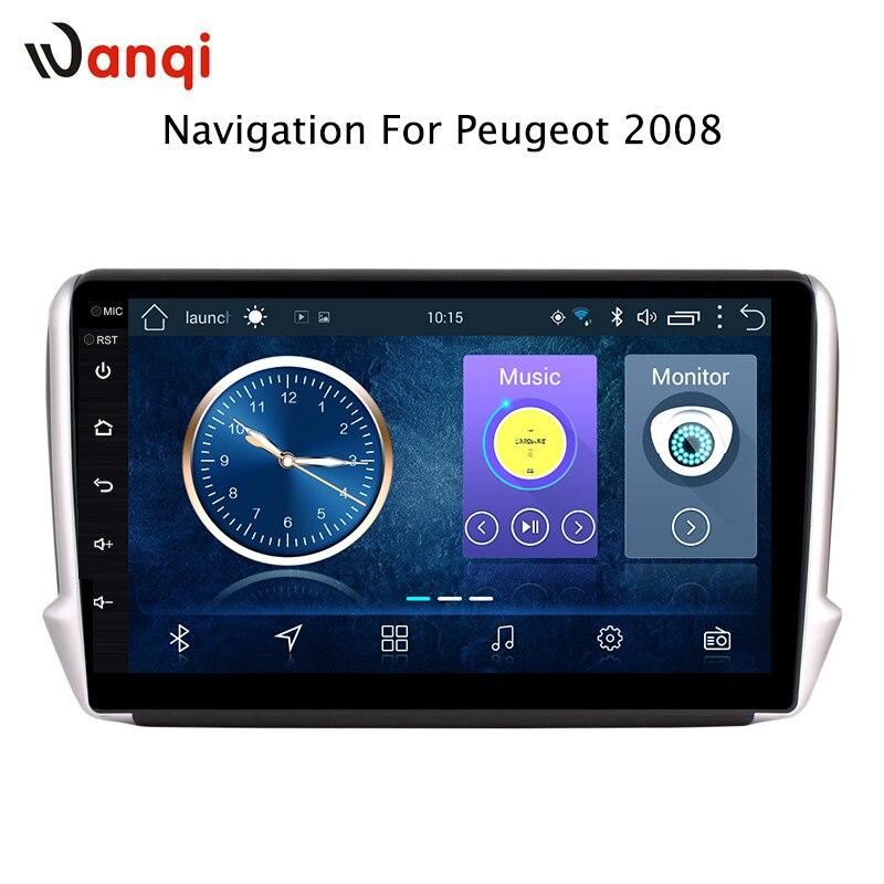 Rádio do carro Para peugeot 2008 208 2014-2018 Android 8.1 HD 9 polegada Unidade de Cabeça de Navegação GPS da tela de Toque player multimídia