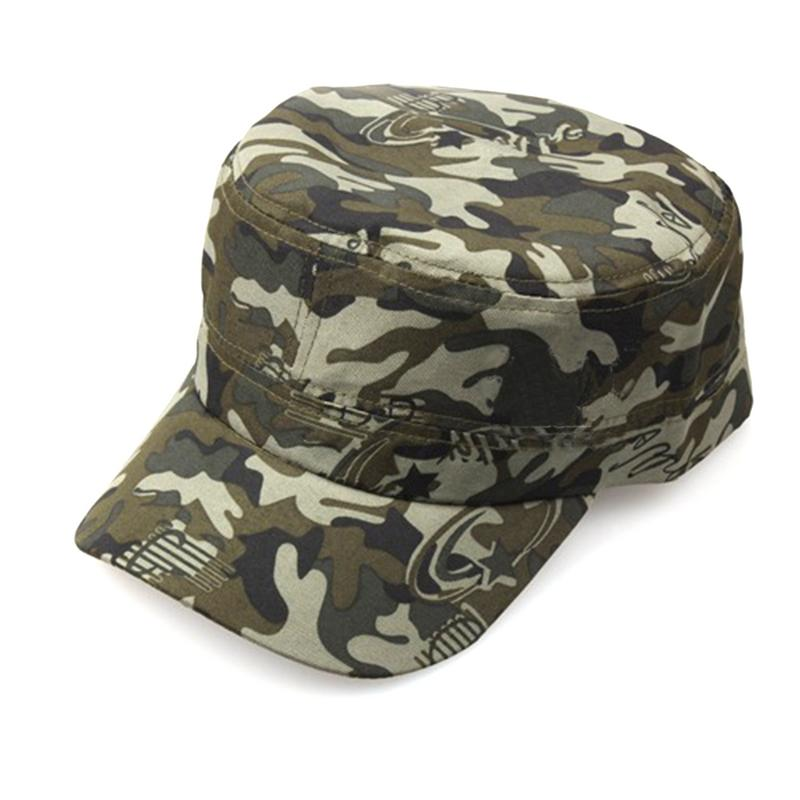 7cee760c Men Climbing Hats Military Hat Adjustable Flat Top Caps Summer Male US  Washed Twill Army Cap Camouflage Kepi Sports Cap
