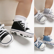 PUDCOCO New Baby Toddler Boys Girls Crib Shoes Tennis Canvas Kids Skater Sneakers 3-18M