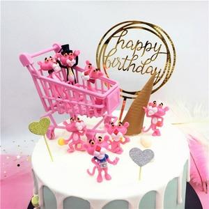 Image 3 - Topper สำหรับเค้กทำจากอะคริลิค Glitter เค้กวันเกิดแฮปปี้ Topper ตกแต่งแขวนแบนเนอร์ Baby Shower Wedding PARTY Supplies