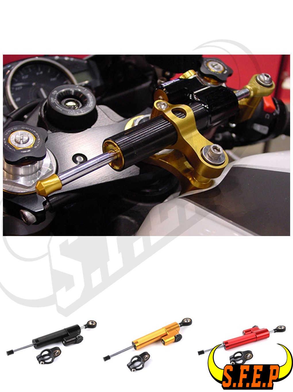 CNC Universal For Yamaha YZF R1 R3 R6 MT09 FZ1 Steering Stabilizer Damper Linear