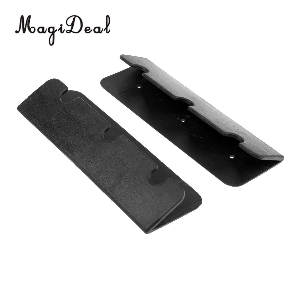 MagiDeal Marine Boat Seat Hook Clip For Inflatable Fishing Boat Rib Dinghy Kayak 2Pcs Black Rowing Rafting Accessories