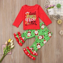 girl toddler clothes kid clothes 2019 christmas fashion girls boutique outfits cartoon children baby christmas outfit cotton цены онлайн