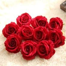 Wysoka jakość! Sztuczne kwiaty jedwabny kwiat głowy róża kwiatowa dekoracja ślubna DIY Scrapbooking kwiaty prezenty artykuły domowe