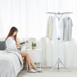 Simple Floor-Standing Triangle Drying Rack Lightweight Fordable Laundry Storage Clothe Hanger For Bathroom Bedroom