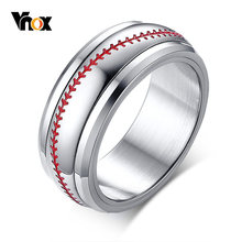 Vnox Spinner Baseball Rings for Men Male Boy Team Sports Accessories(China)