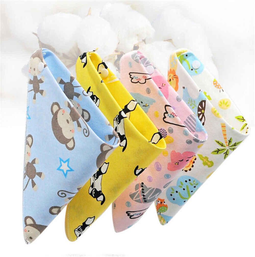 Baberos bebé Baberos recién nacidos niños niñas alimentación babero dibujos animados bufanda toalla Bandana Saliva triángulo Dribble bebé Baberos de algodón 0 -3 T