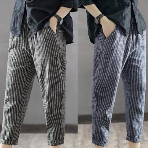 Lente mannen Casual Losse Koord Effen Linnen Lange Losse Broek Strand Broek Mode Streetwear Plus Size
