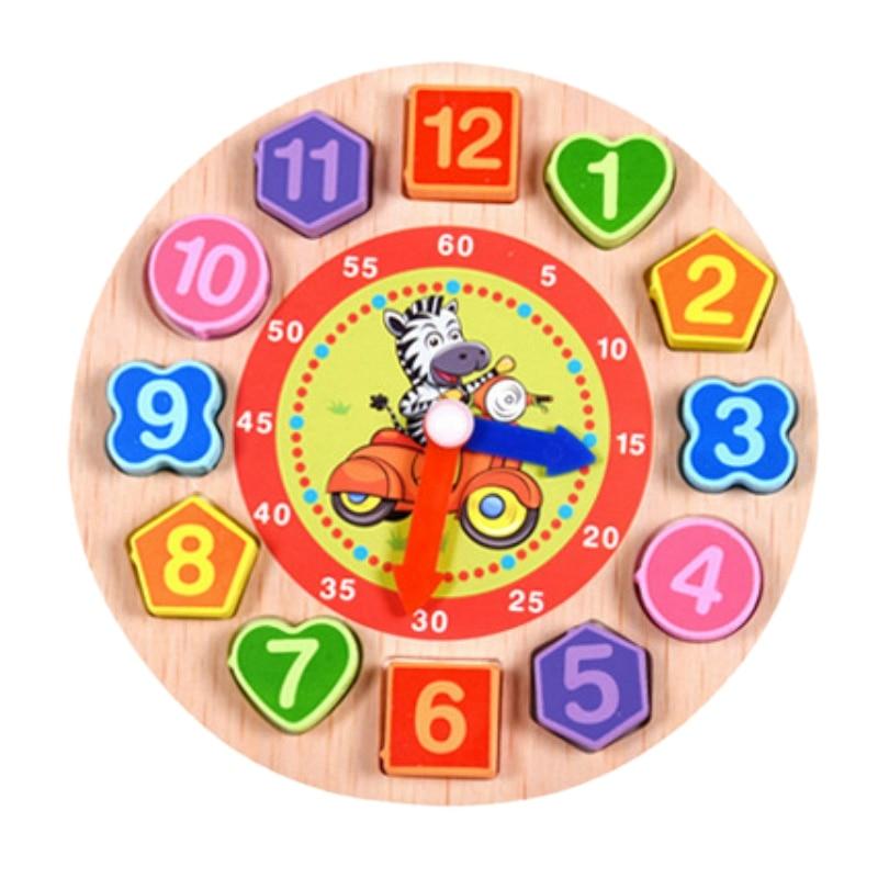 Juguetes De Madera Coloridos 12 Relojes Digitales Juguetes De Geometría Digital Reloj De Juego Cognitivo Juguetes Para Niños Juguetes De Educación Temprana Rompecabezas Temprano Un Enriquecimiento Y Nutriente Para El HíGado Y El RiñóN