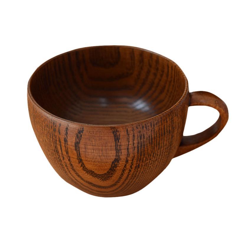 Eenvoudige Koffie Beker Met Handvat Japanse Stijl Jujube Hout Melk Thee Kop Platte Bodem Water Cup Voor Home Kitchen Bar Restaurant