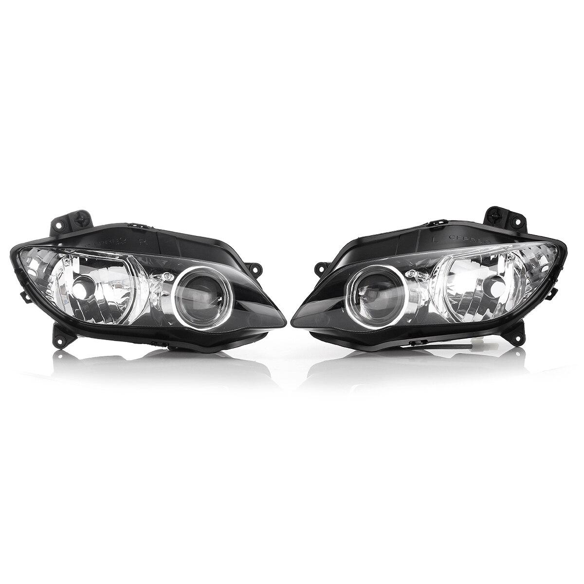 1 paire Objectif Clair Moto Head Light Lampe Avant Phare Phare Assemblée Pour Yamaha YZF R1 2004 2005 2006
