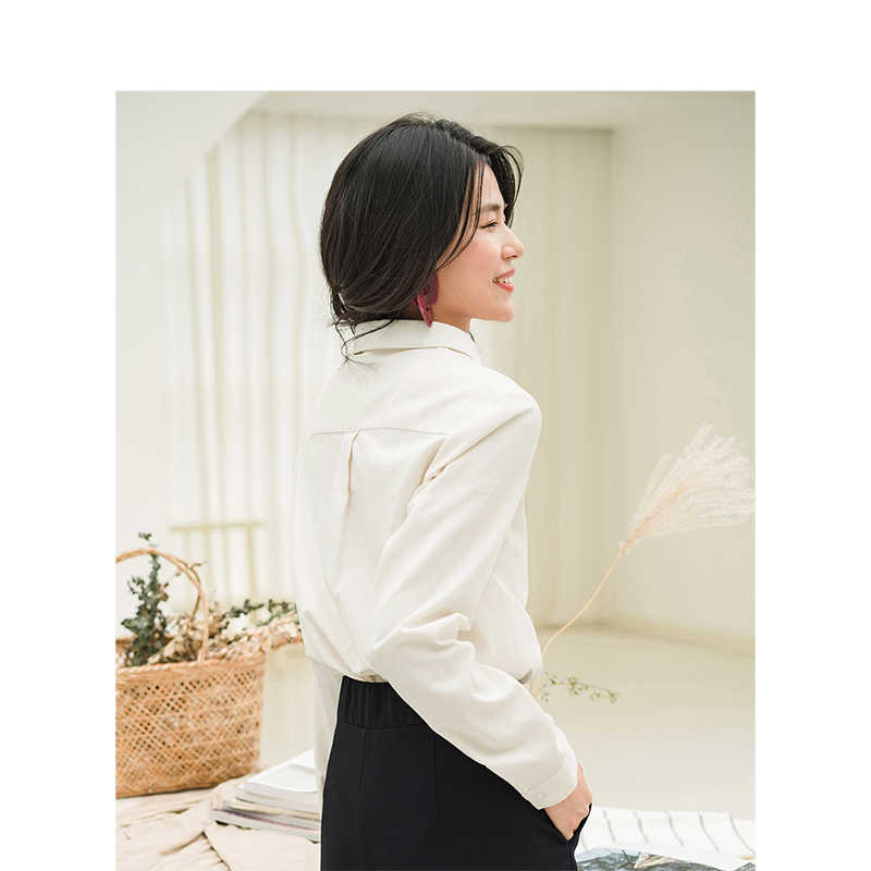 INMAN Inverno New Arrival Algodão Material Confortável Bordado Estudante Menina Mulheres Senhora Causal Blusa
