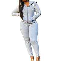Hooded Tracksuit Women Leisure Suit Long Sleeve Zipper Pocket Jacket Coat +Legging Pant Two Piece Sets Women Sweat Suits
