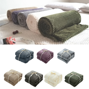 Pineapple Plaid Velvet Plush Solid Color Blanket Throw Soft Fleece Flannel Bed Cover Weighted Bedspread Bedding Summer Adult(China)