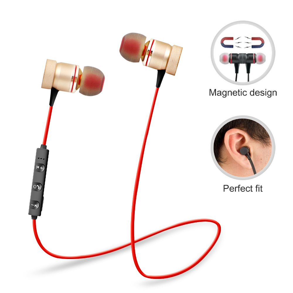 In-ear Bluetooth Earbuds Bloototh Earphone Sports Stereo Wireless Headset For Apple Iphone