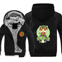 Game anime LOL Jacket Sleeveless Coat Cosplay Costume zipper jacket hoodie men Sweatshirts Thicken Hoodie