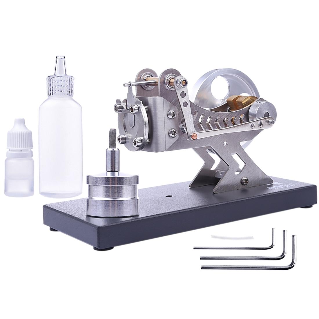 US $74 21 42% OFF|Hot All Metal Vacuum Stirling Engine Model DIY Hot Gas  Turbine Stem Steam Model Set Educational Toy Gift For Kid Children Adult-in