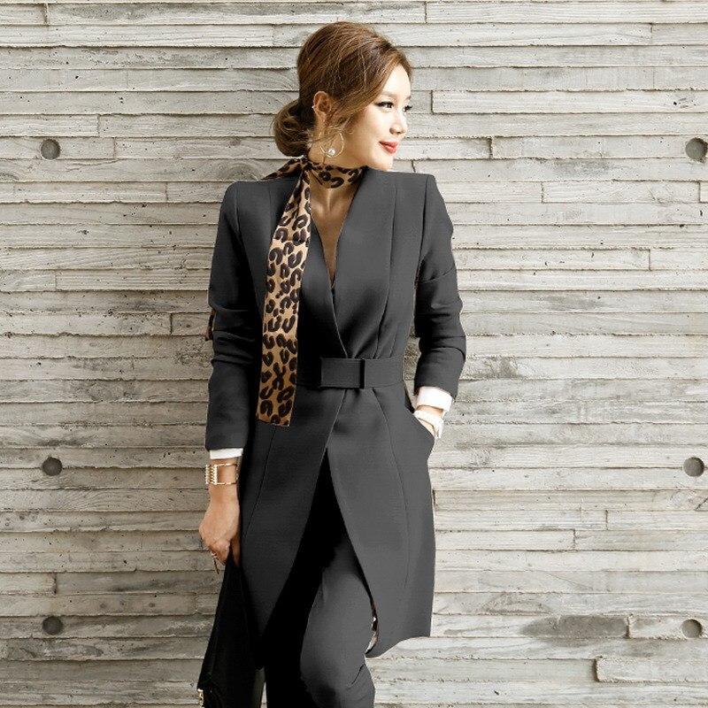 Hot Sale Pant Suits Women Blazer Set Casual Autumn Lady Business