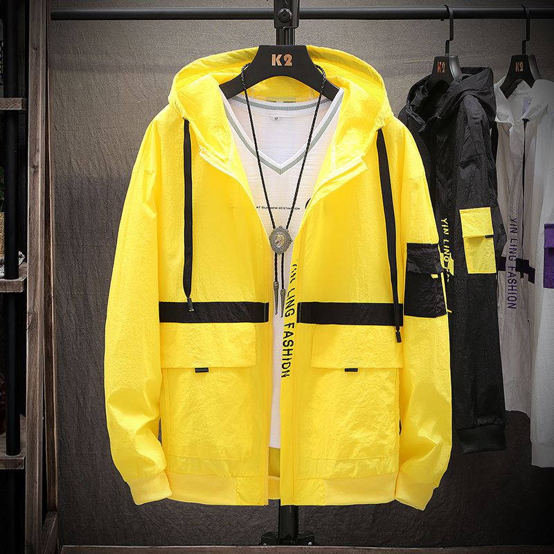 2019 spring summer New Fashion men's thin Hot jacket sports casual sunscreen clothing male Japan Style windbreaker Free shipping