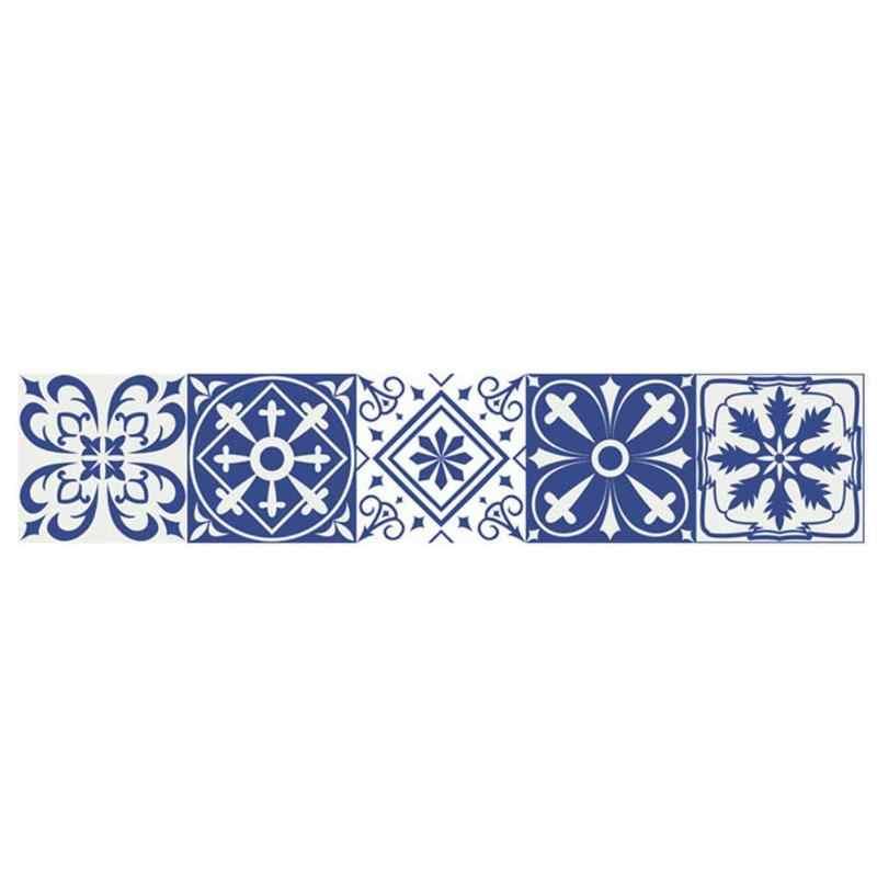 Vintage Maroc Phong Cách Ốp Dán PVC Chống Thấm Nước Tự Dính Dán Tường Nội Thất Phòng Tắm DIY Có Thể Tháo Rời Ốp Miếng Dán