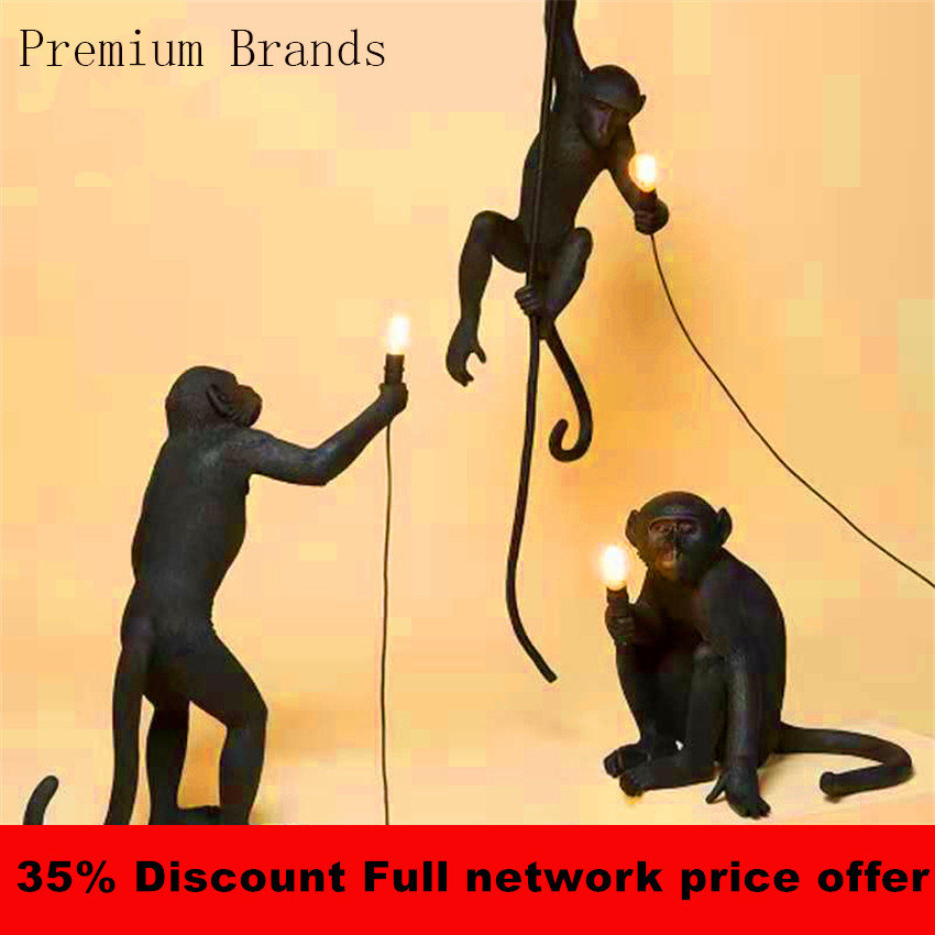 Modern Monkey Lamp Pendant Lamps Led Luminaire Industrial Lighting Hemp Rope Vintage LED Chandelier Lampadario Moderno FixturesModern Monkey Lamp Pendant Lamps Led Luminaire Industrial Lighting Hemp Rope Vintage LED Chandelier Lampadario Moderno Fixtures