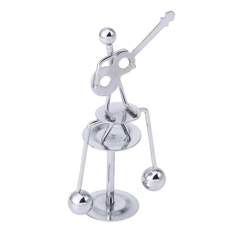 1 шт. баланс мяч настольный развивающий декомпрессии Металл движения Железный человек движения игрушка Статуэтка-балансировщик для украшения дома