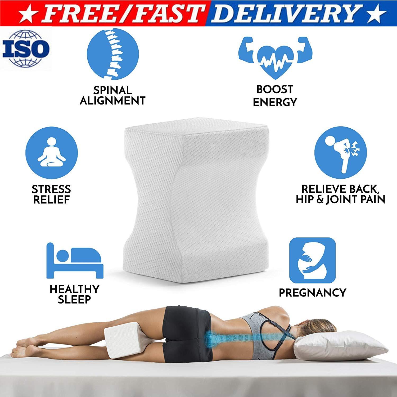 Memory Foam Leg Pillow Cushion Hips Knee Support Pain Relief Orthopaedic Hip Alignment Leg Pillows